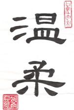 Gentleness in Chinese Calligraphy Characters